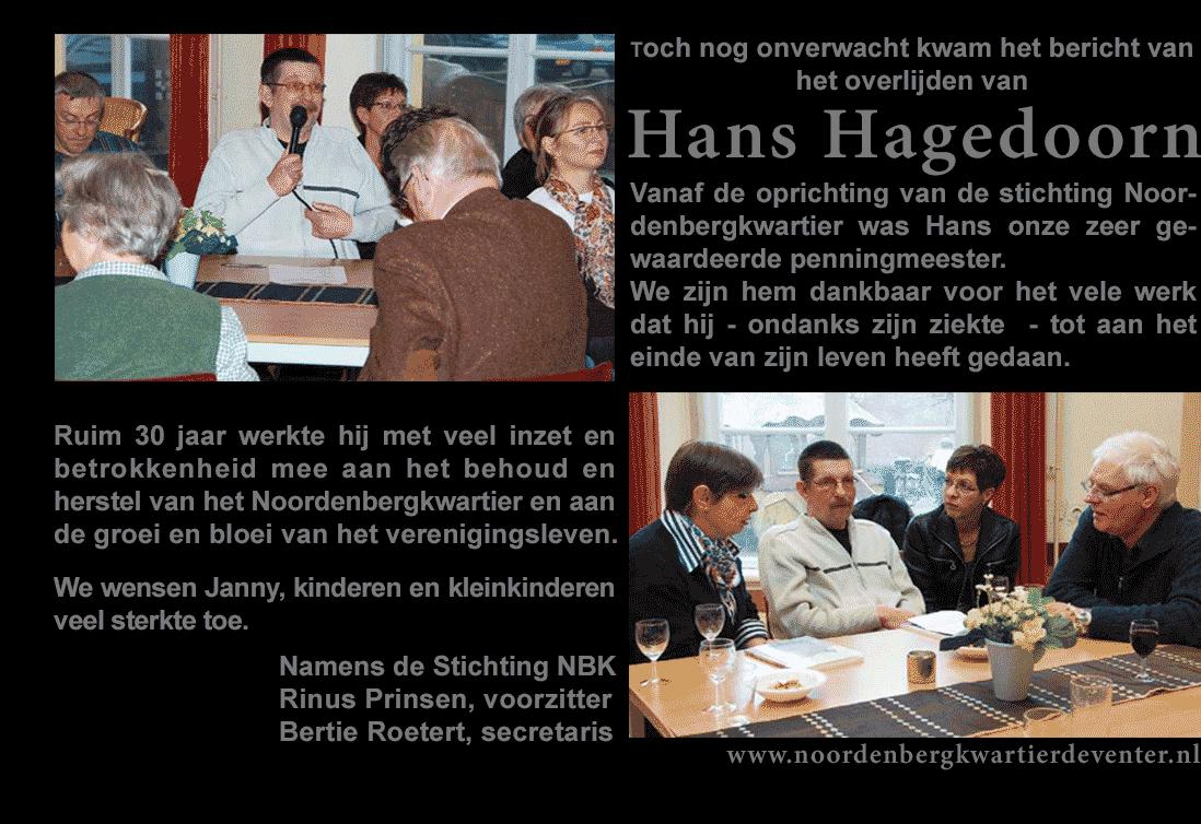In Memoriam Hans Hagedoorn